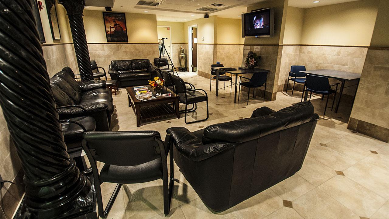 Waiting area at Glen Ridge office